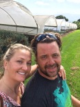 Me and Trenton at his Carnation Farm in Kula Maui