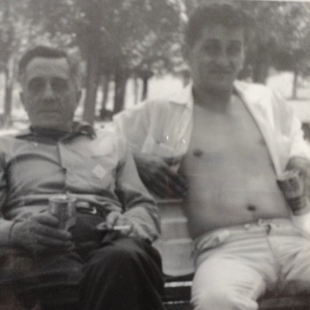 Louie Ambrozic (right) and his Father