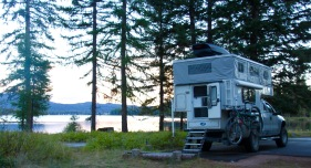 Phoenix Pop Up Camper, Sealy Lake Montana