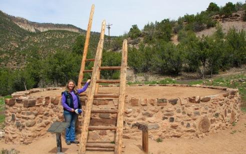 Ceremonial Kiva, Giusewa Pueplo Ruins, NEw Mexico